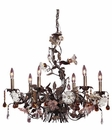 ELK Six Light Chandelier Cristallo Fiore EK-85002