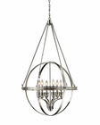 ELK Six Light Chandelier Hemispheres EK-10193