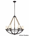 ELK Six Light Chandelier Natural Rope EK-63016