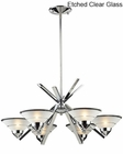ELK Six Light Chandelier Refraction EK-1475