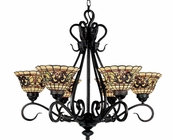 ELK Six Light Tiffany Chandelier Buckingham EK-366