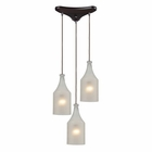 ELK Skylar 3 Light Pendant in Oiled Bronze EK-46005-3
