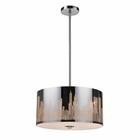 ELK Skyline 3-Light Pendant in Polished Stainless Steel EK-31038-3