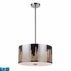 ELK Skyline 3-Light Pendant in Polished Stainless Steel - Led EK-31038-3-LED