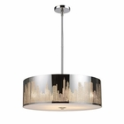 ELK Skyline 5-Light Pendant in Polished Stainless Steel EK-31039-5