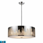ELK Skyline 5-Light Pendant in Polished Stainless Steel - Led EK-31039-5-LED