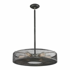 ELK Slatington 6 Light Semi Flush in Silvered Graphite/Brushed Nickel EK-31237-6