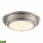 ELK Sonoma Collection Led Flushmount in Brushed Nickel EK-57000-LED