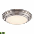 ELK Sonoma Collection Led Flushmount in Brushed Nickel EK-57001-LED