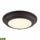 ELK Sonoma Collection Led Flushmount in Oil Rubbed Bronze EK-57021-LED