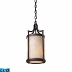 ELK Spanish Mosaic 1-Light Pendant in Aged Bronze - Led EK-19000-1-LED