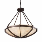 ELK Spanish Mosaic 6-Light Pendant in Aged Bronze EK-19003-6