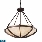ELK Spanish Mosaic 6-Light Pendant in Aged Bronze - Led EK-19003-6-LED