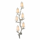 ELK Sprig Collection 6 Light Sconce in Silver Leaf EK-55005-6