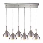 ELK Spun Aluminum 6 Light Pendant in Satin Nickel EK-17042-6RC-ALM
