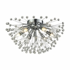 ELK Starburst 6 Light Semi Flush in Polished Chrome EK-11830-6