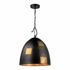 ELK Strasburg 3 Light Pendant in Weathered Iron/Antique Gold EK-14292-3