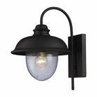 ELK Streeside Caf? 1-Light Outdoor Sconce in Matte Black EK-62000-1