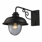 ELK Streeside Caf? 1-Light Outdoor Sconce in Matte Black EK-62001-1