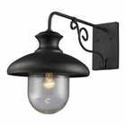 ELK Streeside Caf? 1-Light Outdoor Sconce in Matte Black EK-62002-1