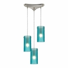 ELK Synthesis 3 Light Pendant in Satin Nickel EK-10243-3FA