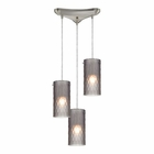 ELK Synthesis 3 Light Pendant in Satin Nickel EK-10243-3FSM