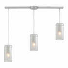 ELK Synthesis 3 Light Pendant in Satin Nickel EK-10243-3L-FC