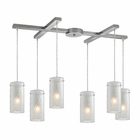 ELK Synthesis 6 Light Pendant in Satin Nickel EK-10243-6FC