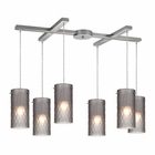 ELK Synthesis 6 Light Pendant in Satin Nickel EK-10243-6FSM