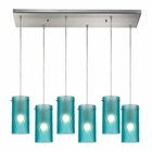 ELK Synthesis 6 Light Pendant in Satin Nickel EK-10243-6RC-FA