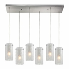 ELK Synthesis 6 Light Pendant in Satin Nickel EK-10243-6RC-FC