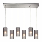 ELK Synthesis 6 Light Pendant in Satin Nickel EK-10243-6RC-FSM