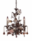 ELK Three Light Chandelier Cristallo Fiore EK-85001