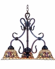 ELK Three Light Tiffany Chandelier Buckingham EK-363