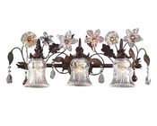 ELK Three Light Vanity Lamp with Florets Cristallo EK-7042