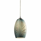 ELK Tidewaters 1 Light Pendant in Satin Nickel EK-31620-1