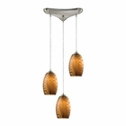 ELK Tidewaters 3 Light Pendant in Satin Nickel EK-31600-3