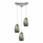 ELK Tidewaters 3 Light Pendant in Satin Nickel EK-31620-3