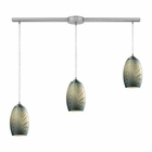 ELK Tidewaters 3 Light Pendant in Satin Nickel EK-31620-3L