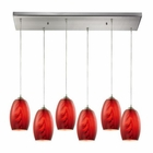 ELK Tidewaters 6 Light Pendant in Satin Nickel EK-31610-6RC