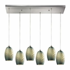 ELK Tidewaters 6 Light Pendant in Satin Nickel EK-31620-6RC