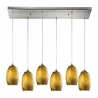 ELK Tidewaters 6 Light Pendant in Satin Nickel EK-31630-6RC