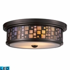 ELK Tiffany 2-Light Flush Mount in - Led EK-70027-2-LED