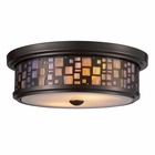 ELK Tiffany 2-Light Flush Mount in Oiled Bronze EK-70027-2