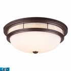 ELK Tiffany 3-Light Flush Mount in - Led EK-70014-3-LED