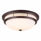 ELK Tiffany 3-Light Flush Mount in Oiled  Bronze EK-70014-3