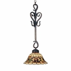 ELK Tiffany Buckingham 1-Light Pendant in Vintage Antique With Tiffany Style Glass EK-369-VA