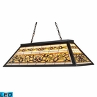 ELK Tiffany Game Room-Lighting 4-Light Billiard/Island Light in Tiffany Bronze Metal - Led EK-70023-4-LED