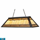 ELK Tiffany Game Room Lighting 4-Light Billiard/Island Light in Tiffany Bronze Metal - Led EK-70113-4-LED
