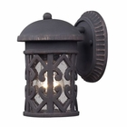 ELK Tuscany Coast 1-Light Outdoor Sconce in Weathered Charcoal EK-42065-1